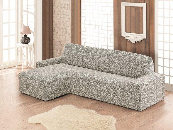 Чехол на угловой диван левосторонний Karna MILANO (натурал), фото, фотография