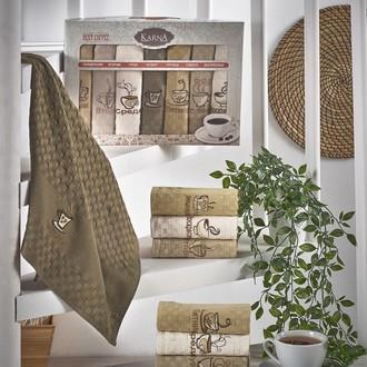 Набор кухонных полотенец 45*65(7) Karna DEVON хлопковая вафля