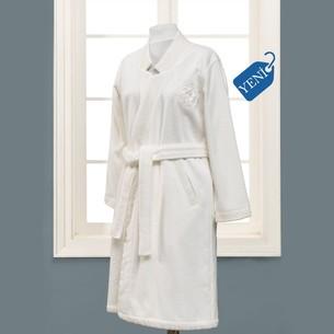 Халат женский Soft Cotton ELIZA хлопковая махра экрю L