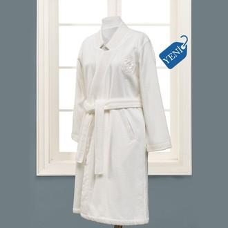 Халат женский Soft Cotton ELIZA хлопковая махра (экрю)