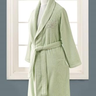 Халат женский Soft Cotton LILIUM микрокоттон светло-зелёный