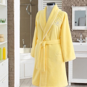 Халат женский Soft Cotton LILIUM микрокоттон ярко-жёлтый L