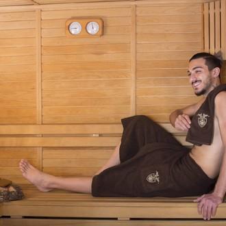 Набор для сауны мужской Karna BAREL махра хлопок (коричневый)
