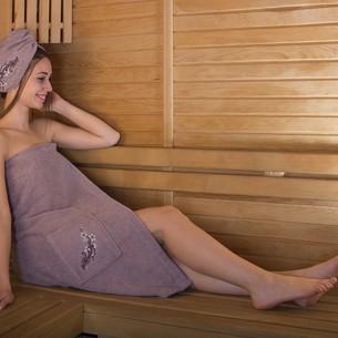 Набор для сауны женский Karna ARVEN махра хлопок светло-лавандовый
