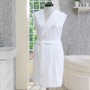 Халат женский Soft Cotton DURU хлопковая махра белый M