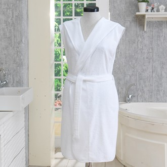 Халат женский Soft Cotton DURU хлопковая махра (белый)