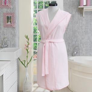 Халат женский Soft Cotton DURU хлопковая махра розовый L