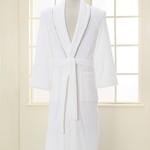 Халат мужской Soft Cotton SHARP хлопковая махра белый L, фото, фотография