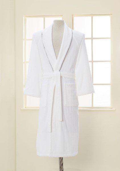 Халат мужской Soft Cotton SHARP хлопковая махра белый XL, фото, фотография
