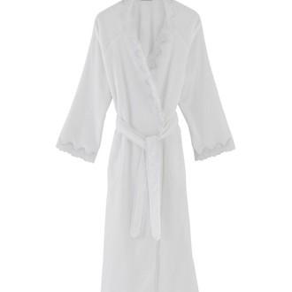 Халат женский Soft Cotton ANGELIC хлопковая махра (белый)