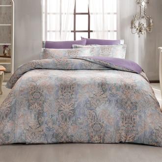 Постельное белье Tivolyo Home GATSBY сатин, жатый шёлк фиолетовый