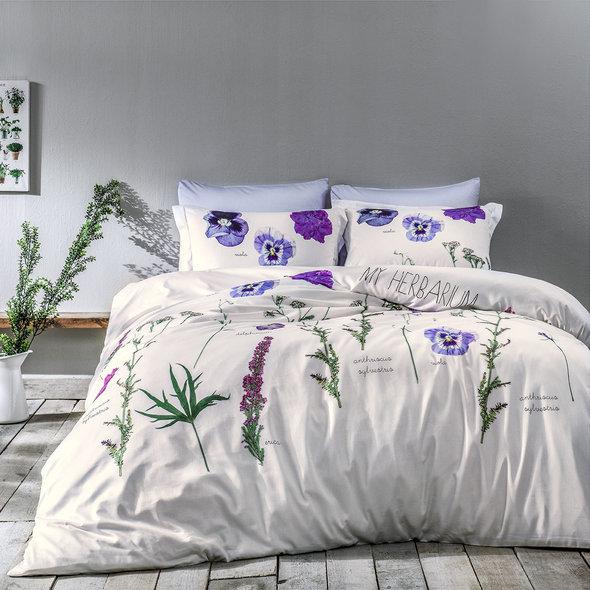Комплект постельного белья Tivolyo Home FREZIA хлопковый люкс-сатин евро, фото, фотография