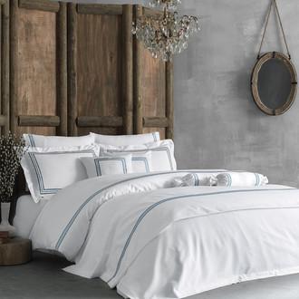 Комплект постельного белья Tivolyo Home LINE хлопковый люкс-сатин (тёмно-синий)
