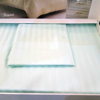 Комплект постельного белья Tivolyo Home JAQUARD сатин-жаккард (бирюзовый)