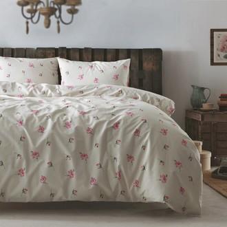 Комплект постельного белья Tivolyo Home DORA хлопковый ранфорс (розовый)