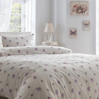 Комплект постельного белья Tivolyo Home DORA хлопковый ранфорс (лиловый)