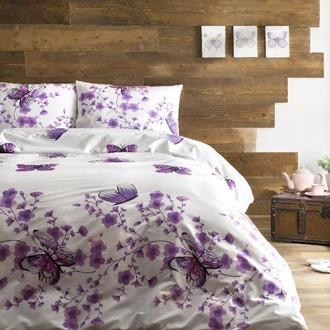Комплект постельного белья Tivolyo Home FIORI хлопковый ранфорс (розовый)