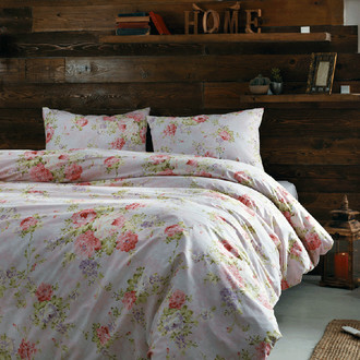 Комплект постельного белья Tivolyo Home FRESIE хлопковый ранфорс (розовый)