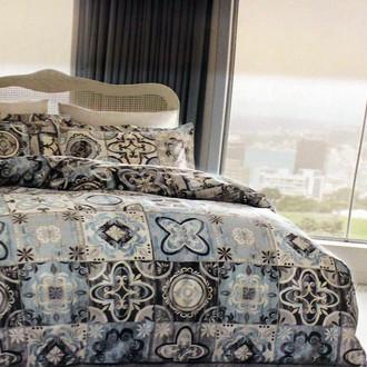 Комплект постельного белья Tivolyo Home LAUREN хлопковый ранфорс (серый)
