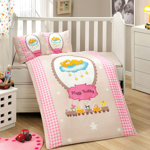 Детское постельное белье Hobby Home Collection BAMBAM хлопковый поплин розовый