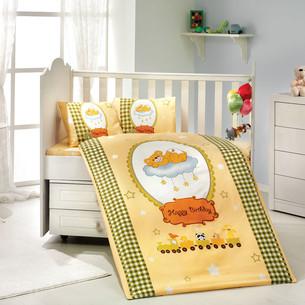 Детское постельное белье Hobby Home Collection BAMBAM хлопковый поплин жёлтый