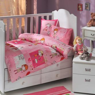 Комплект детского постельного белья Hobby Home Collection CITY GIRL хлопковый поплин розовый