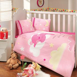 Детское постельное белье Hobby Home Collection SLEEPER хлопковый поплин розовый