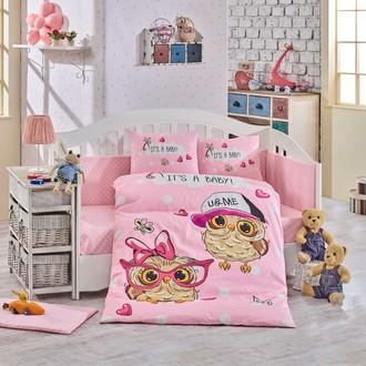 Набор в детскую кроватку Hobby Home Collection COOL BABY хлопковый поплин (розовый)