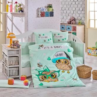 Набор в детскую кроватку Hobby Home Collection COOL BABY хлопковый поплин минт