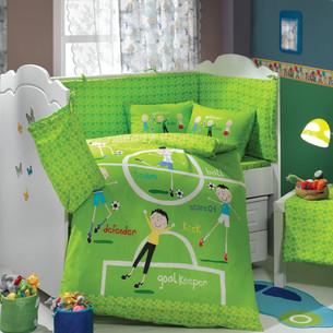 Набор в детскую кроватку Hobby Home Collection SOCCER хлопковый поплин зелёный