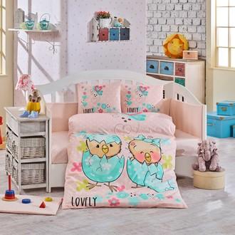 Набор в детскую кроватку Hobby Home Collection LOVELY хлопковый поплин (персиковый)