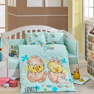Набор в детскую кроватку Hobby Home Collection LOVELY хлопковый поплин минт