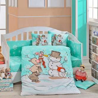 Набор в детскую кроватку Hobby Home Collection SNOWBALL хлопковый поплин (минт)