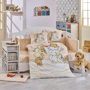 Набор в детскую кроватку Hobby Home Collection SNOWBALL хлопковый поплин бежевый