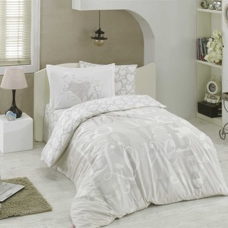 Комплект постельного белья Hobby Home Collection LOVE хлопковый поплин (серый)