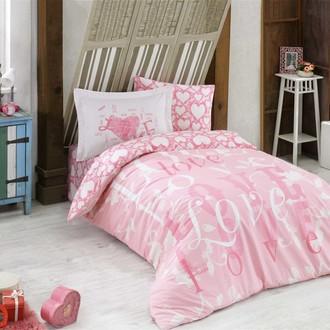 Комплект постельного белья Hobby Home Collection LOVE хлопковый поплин (розовый)