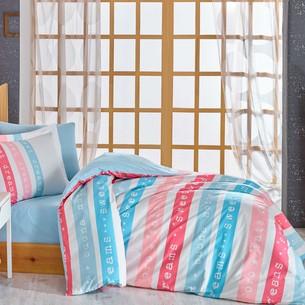 Постельное белье Hobby Home Collection SWEET DREAMS хлопковый поплин голубой 1,5 спальный