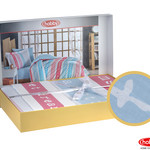 Постельное белье Hobby Home Collection SWEET DREAMS хлопковый поплин голубой 1,5 спальный, фото, фотография