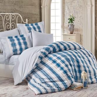 Комплект постельного белья Hobby Home Collection DEBORA хлопковый поплин (синий)