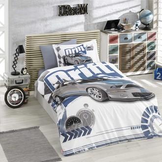 Комплект постельного белья Hobby Home Collection DRIFT хлопковый поплин (синий)