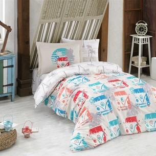 Постельное белье Hobby Home Collection RENATA хлопковый поплин кремовый 1,5 спальный