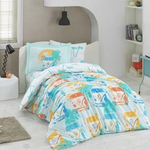 Постельное белье Hobby Home Collection RENATA хлопковый поплин минт 1,5 спальный