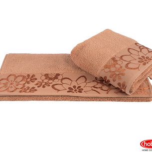 Полотенце для ванной Hobby Home Collection DORA хлопковая махра тёмно-оранжевый 100х150