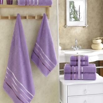 Подарочный набор полотенец для ванной Karna BALE хлопковая махра 50*80(2), 70*140(2) (сиреневый)