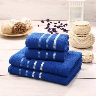 Подарочный набор полотенец для ванной Karna BALE хлопковая махра 50*80 2 шт., 70*140 2 шт. парламент