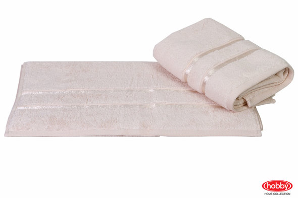 Полотенце для ванной Hobby Home Collection DOLCE хлопковый микрокоттон (светло-жёлтый) 100*150, фото, фотография