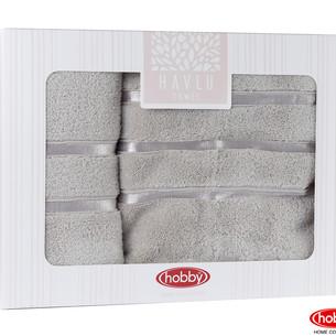 Подарочный набор полотенец для ванной Hobby Home Collection DOLCE хлопковая махра 2 пр. коричневый