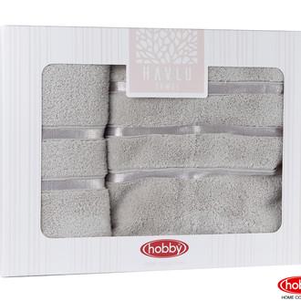 Подарочный набор полотенец для ванной Hobby Home Collection DOLCE хлопковая махра 2 пр. (коричневый)