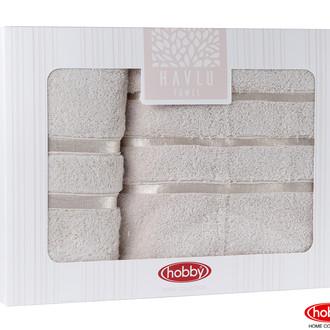 Подарочный набор полотенец для ванной Hobby Home Collection DOLCE хлопковая махра 2 пр. (светло-жёлтый)