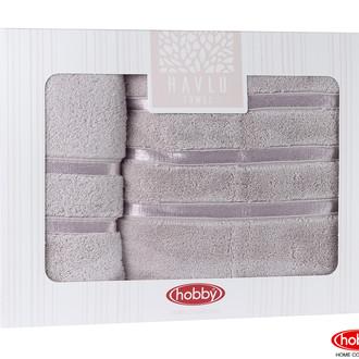 Подарочный набор полотенец для ванной Hobby Home Collection DOLCE хлопковая махра 2 пр. светло-лиловый